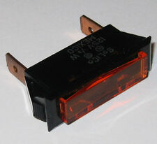 Solico Series 33 Amber Rectangular Panel Mount Indicator Light - 125V Neon