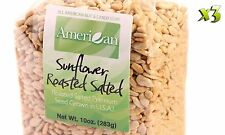 30 Oz Gourmet Style Bags of Roasted Salted Hulled Sun Flower Seeds [1 7/8 lbs.]