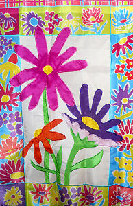 Evergreen Flower Standard House Flag #5436 Brilliant Colors!