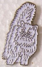 Hat Lapel Pin Scarf Clasp Cat Persian Cream NEW