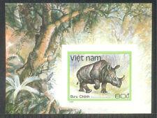 """N.554B-Vietnam IMPERF Block """"Javan Rhinoceros"""" 1988"""