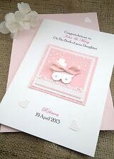 "Personalised Handmade Christening / Birth Card Girl Or Boy ""Starry Sky"""