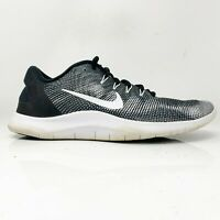 Nike Mens Flex 2018 RN AA7397-001 Black White Running Shoes Lace Up Size 11.5