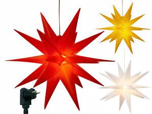 LED Weihnachtsstern Timer Innen Außen Weihnachts-Deko Stern Advent 3D Stern
