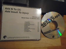 RARE ADVANCE PROMO Add N To (X) CD Add Insult to Injury electronic STEREOLAB V !
