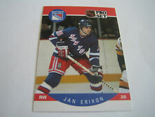 1990/91 PRO SET HOCKEY JAN ERIXON CARD #195***NEW YORK RANGERS***