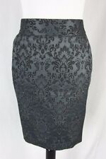 Ann Taylor Skirt size 14 Gray Brocade Straight Cocktail Slim
