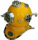 "Full Size 18"" Brass Antique Scuba SCA Marine Diving Divers Helmet US Navy Mark V"