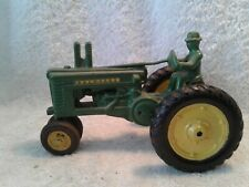 Vintage Die Cast Ertl  John Deere A Tractor with Driver 1/20th Scale Repainted
