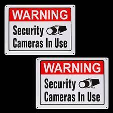 METAL SPY SECURITY CCTV VIDEO SURVEILANCE CAMERAS SYSTEM WARNING YARD SIGNS LOT