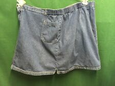 ESSENTIALS BLUE JEAN DENIM SKIRT SKORTS SHORTS SIZE 26W - 28W  WAIST 46-50""