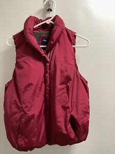 Girls Gap Kids Maroon Puffy Vest Coat (lined). Size Medium