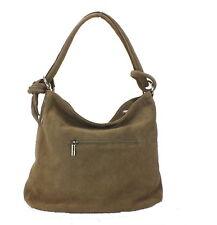 Eastline Leder Handtasche Schultertasche Tasche taupe 6014 H