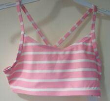 New Gap Kids Mix & Match Pink & White Stripe Bathing Suit Top Size Small / 6-7