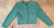Geiger Austria Boiled Wool Cardigan Button Sweater Mint Green Size 40