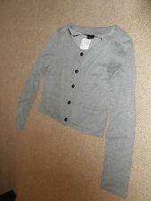 H&M grey fleck short jacket - size 10
