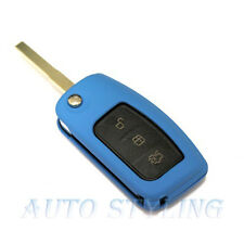 Blue Key Cover Case for Ford Remote Protector Flip Shell Fob 2 3 Button 43blu