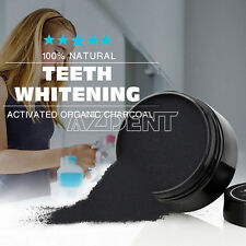 100% Natural Activated Organic Charcoal Teeth Whitening Powder Whitener Detox