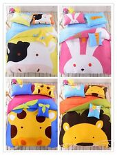100% Cotton Twin Bedding Duvet Cover Set Kids, NEW