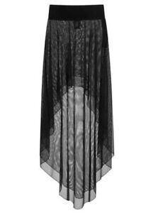 Artemis Lagen-Netzrock transparent Gothic vokuhila Damenrock Gothicrock
