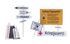 HO Roco Minitank Parts German Road Signs with Post DP138.387.354