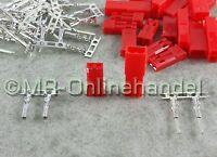 10 Paar ( 20 Stück ) JST BEC Stecker + Buchse Crimp Set