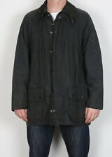 "BARBOUR Beaufort Wax Jacket Coat 44"" Large XL Navy Blue Vintage (5BK)"