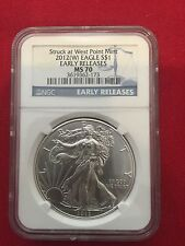 2012-W NGC MS 70 American Silver Eagle - Early Release