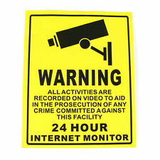 Security Camera System Warning Sign Sticker Decal Surveillance 200x250mm