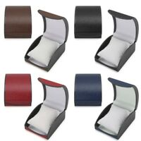 Wristwatch Box Faux Leather Display Case Holder Gift For Jewelry Bracelet Bangle