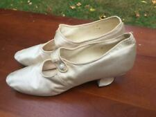 Antique Vintage Bradley & Metcalf Milwaukee Ladies Silk Satin Shoes Wedding