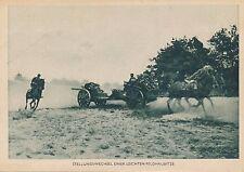 Nr. 10380  PK Die Wehrmacht Stellungswechsel Haubitze Pferd Reiter Soldaten
