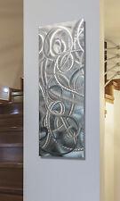 Metal Wall Art Abstract Modern Silver Panel Art Sculpture - Delight by Jon Allen