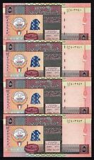 Kuwait, 5 Dinar 5th Issue 1994, 4 Consecutive notes (UNC) #396