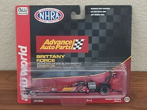 2019 Brittany Force Advance Auto Parts Top Fuel Dragster 1/64 Autoworld NHRA