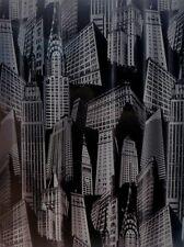 NEW N.Y. YORK SKYLINE ART DECO BATHROOM SHOWER CURTAIN 70 X 72 in. ECO FRIENDLY