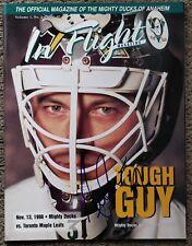 Guy Hebert Signed Ducks 1996-97 In Flight Magazine