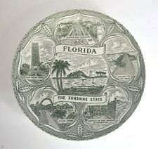 Vintage Florida The Sunshine State collector state plate Green