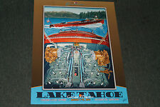 2015 signed poster from the Lake Tahoe Wooden Boat Concours by Roy E. Dryer III