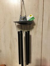 """New listing 2 Set True Living Outdoors Texas Wind Chime """"Cowboy Hat�"""