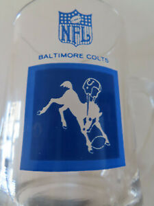 1960s Baltimore Colts NFL Mug Stein Beer Glass Drinking Hickok NFL Football