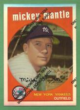 MICKEY MANTLE 1996 Topps Finest Reprint Refractor #9 Yankees (1959 Topps)
