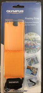 NEW - Olympus FLOATING CAMERA WRIST STRAP - Bright Orange - For Water/Snow