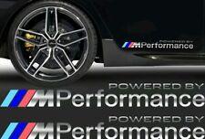 Pack 2 Pegatinas sticker BMW powered by M Performance cromado bandera color 50cm