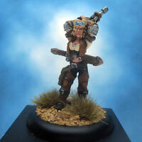 Painted Privateer Press Miniature Warmachine Mercenaries Captain Sam Machorne