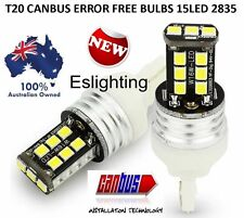2 X T20 7443 7440 15 LED DUAL FILAMENT CAR BRAKE STOP TAIL LIGHT BULB 12V WHITE