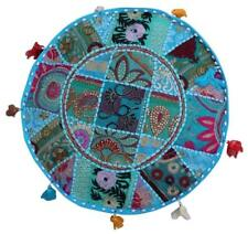 Indian Comfortable Floor Cotton Cushion Cover Patch Work Ottoman Handmade Pouf