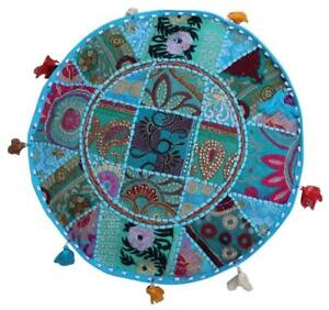 Indien Comfortable Floor Cotton Cushion Cover Patch Work Ottoman Handmade Pouf