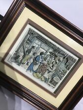More details for framed anton pieck l.e village shop 3d art layered decoupage glazed shadow box