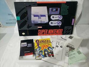 Super Nintendo SNES Super Set BOX, MANUALS, BAGS & STYROFOAM ONLY
